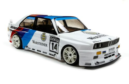 Clear BMW M3 E30 bodyshell without wing [08059]